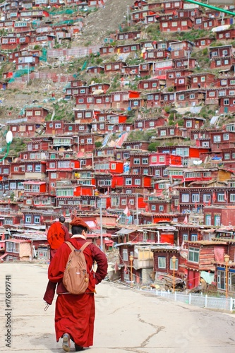 Aluminium Boeddha Tibetan Village