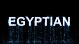 Name EGYPTIAN appears from the water, then disappears. Transparent alpha channel. 3D rendering - 176605385