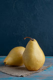 Yellow pears on shabby background - 176606980