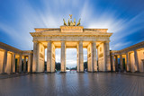 Dramatic sky with Brandenburg gate in Berlin city, Germany - 176609168
