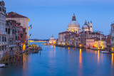 Night view of Grand Canal in Venice, Venezia, Italy