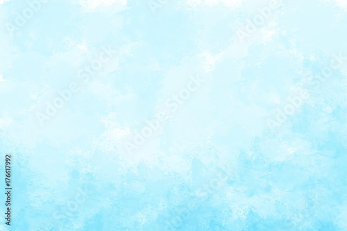 Blue watercolor background. Digital painting. - 176617992
