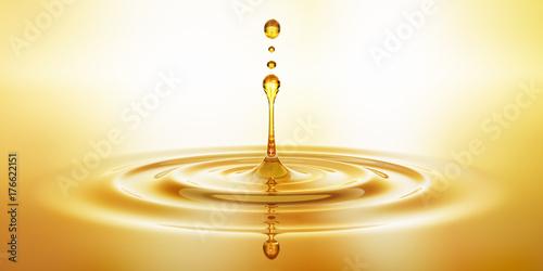 Krople złotego oleju