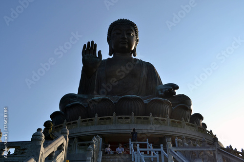 The Tian Tan Buddha (The Big Buddha), in Lantau Island - Hongkong Poster