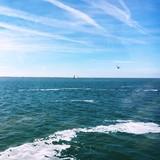 Landschaft Himmel und Meer
