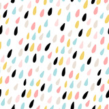 Cute seamless pattern with colorful water drops. Childish texture for fabric, textile.Vector Illustration - 176632913