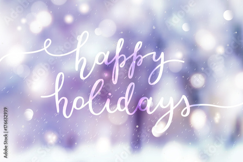Aluminium Purper happy holidays lettering