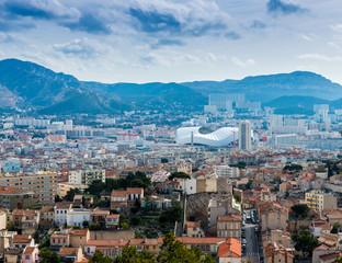 Vue de Marseille depuis Notre-Dame-de-la-Garde, Bouches-du-Rhône, Provence, France