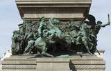 Sofia, Bulgaria, detail of monument to the King-liverator - 176635513