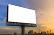 Blank billboard ready for use