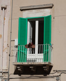 Balcony with flowers in Italy. - 176645389