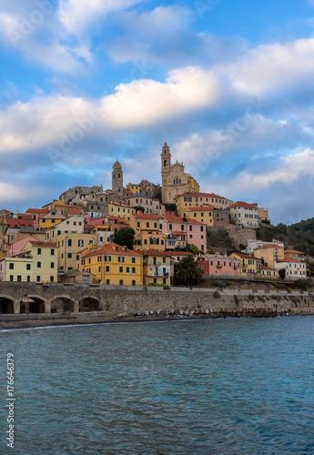 Fotobehang Liguria The Ligurian town, Cervo, Italy