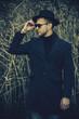 elegant black coat