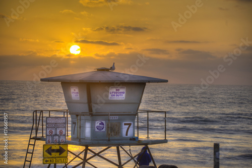 Foto op Canvas Zee zonsondergang Sunset Oceanside, California