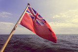 uk red ensign the british maritime flag flown from yacht - 176668194