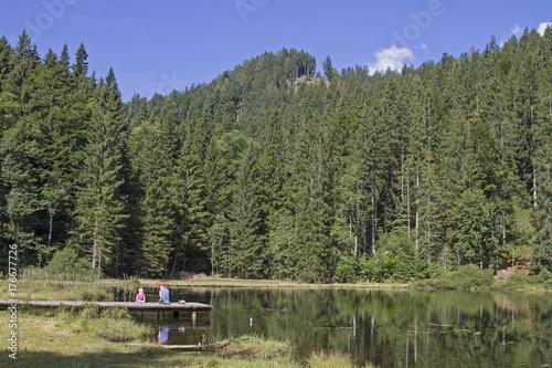 Foto op Canvas Bergen Bichler See im Mangfallgebirge