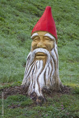 Fotobehang Betoverde Bos Der Zwerg im Baum