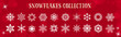 White Snowflakes Winter & Merry Christmas Vector Set