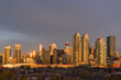 calgary city skyline at sunrise