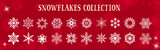 White Snowflakes Winter & Merry Christmas Vector Set - 176681921