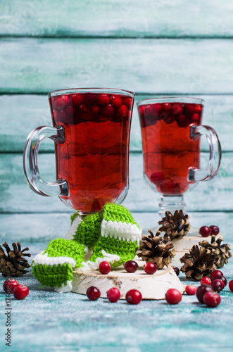 Poster Transparent cranberry tea