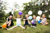 Kids enjoying the party in the garden - 176689317
