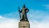 Seoul, South Korea - Taking the statue of Admiral Yi Sun-shin as Time lapse in Gwanghwamun. Zoom out - 176690179