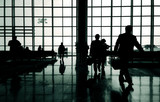 Business travelers at airport. - 176690734