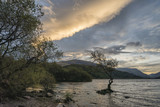 Beautiful landscape image of Llyn Padarn at sunrise in Autumn in Snowfonia National Park - 176690985