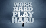 Hard working motivation for business person - 176691165
