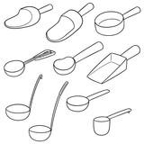 vector set of scoops - 176692381