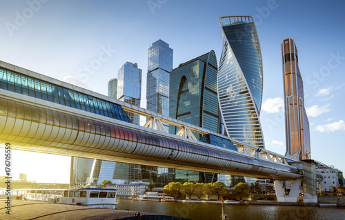 Moscow City International Business Center in Russia Poster