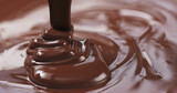 pouring dark melted chocolate - 176705902