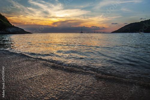 Aluminium Thailand Sunset with dramatic sky