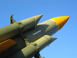 Missiles ready to launch to the sky