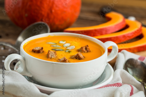 Pumpkin soup puree - 176714516