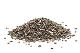 Pile of healthy chia seeds isolated on a white background - 176714757