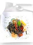 Spaghetti with Tiger Prawns - 176720369