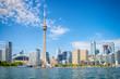 Leinwanddruck Bild - Skyline of Toront in Canada from the lake Ontario