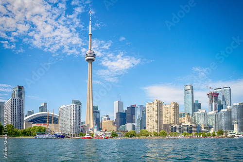 Skyline of Toront in Canada from the lake Ontario Poster