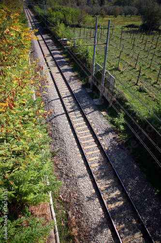 Papiers peints Voies ferrées binario ferroviario
