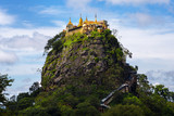 Mount Popa home of Nat the Burmese mythology ghost this place is the old volcano in Bagan, Myanmar