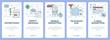 Vector modern thin line flat design advertising concept vertical banners