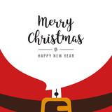 santa beard merry christmas gretting - 176754599
