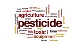 Pesticide animated word cloud, text design animation. - 176755752