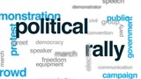Political rally animated word cloud, text design animation. - 176756374