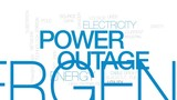 Power outage animated word cloud, text design animation. Kinetic typography. - 176757356