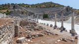 Amphitheater and Ruins of the ancient city of Ephesus - 176769794