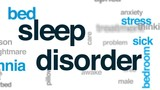 Sleep disorder animated word cloud, text design animation. - 176779902