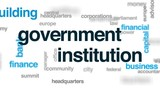 Government institution animated word cloud, text design animation. - 176788371
